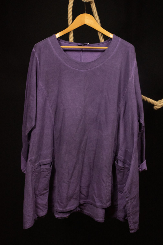 Shirt in paars 50-54
