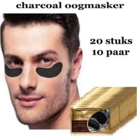 Charcoal oogmasker - Anti age black collageen