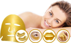 Beauty (gift) set  24K Gouden oog-, lip-, en gezichtsmasker