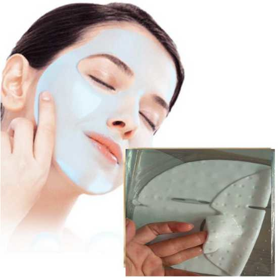 Liftend anti rimpel white collageen gezichtsmasker met hyaluronzuur
