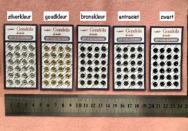 Metalen drukkertjes 6 mm doorsnede - minidrukkertjes.