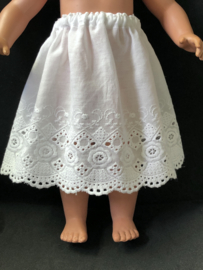 Petticoat onderrok onderjurk voor poppen 14,5 cm lang.