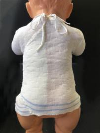 Vintage baby omslag truitje van gemengd katoen, geschikt voor pasgeborene en voor reborn.