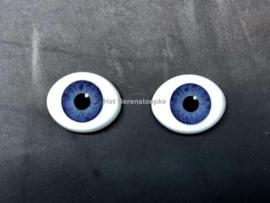 Glasogen  - glazen ogen - paperweight poppenogen ovaal.