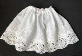 Petticoat onderrok onderjurk voor poppen 18,5 cm lang.
