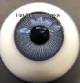 Poppenogen glas halfrond flatback voor o.a. reborn