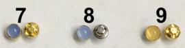 Mini gekleurde bolle poppenknoopjes metaal met plastic 4 mm doorsnede in 19 kleuren