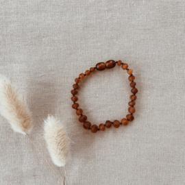 Barnsteen Armband/Enkelbandje Mat Cognac