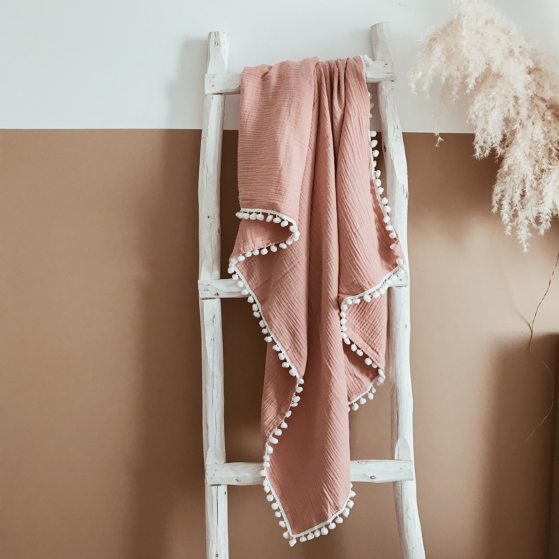 Boho Swaddle Dusty Rose