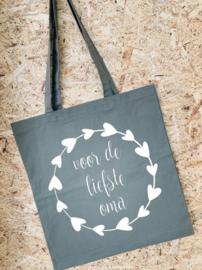 Tas voor de liefste oma | Olijfgroen