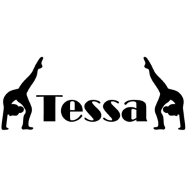 Naamsticker Turnen
