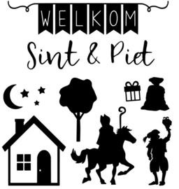 DIY stickervel Sint & Piet
