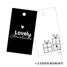 Cadeaulabel Lovely Christmas | 3 stuks
