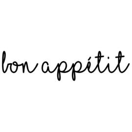 Muursticker | Bon appetit