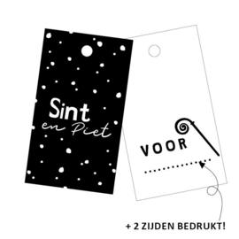 Cadeaulabel Sint & Piet | 3 stuks
