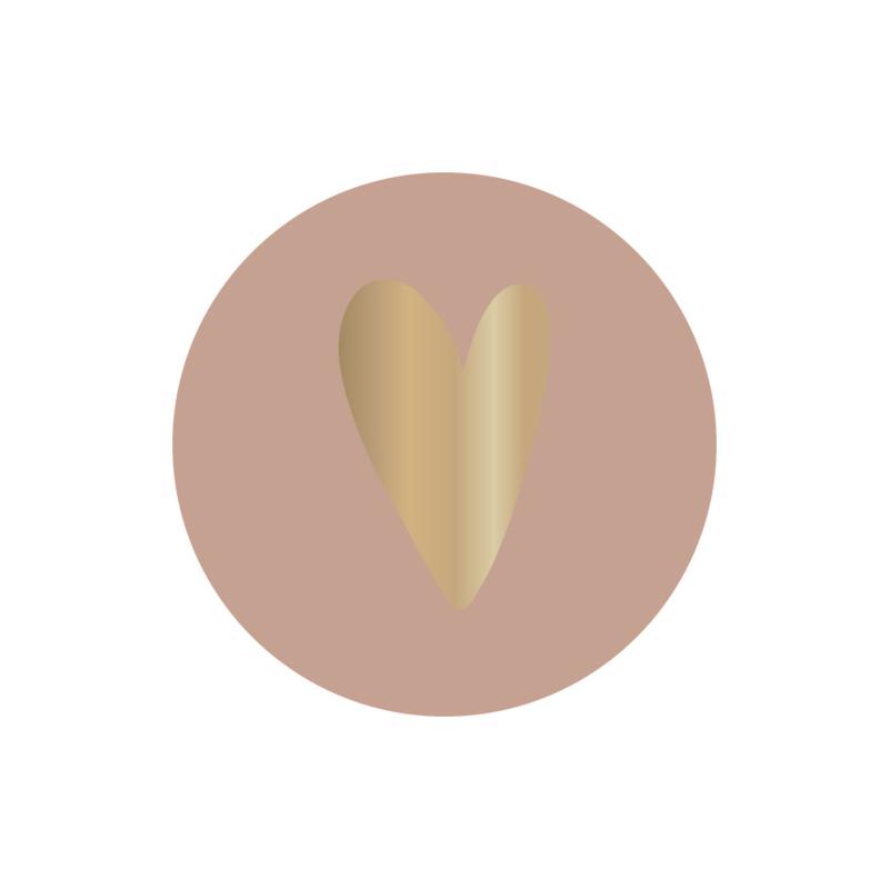Set stickers | heart pink