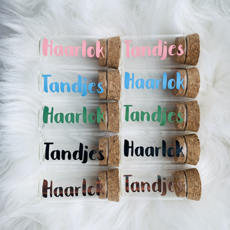 Haarlok & Tandjes setje
