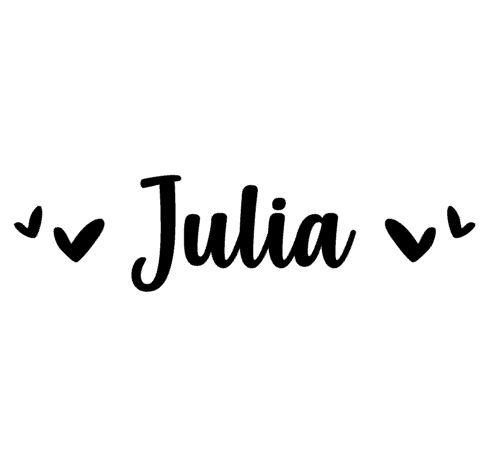 Naamsticker Julia