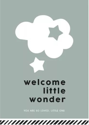 Kaartje | Welcome little wonder