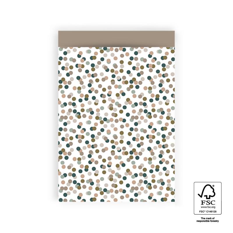 Cadeauzakje confetti | 17x25cm