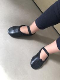Ballet shoe Black Leather