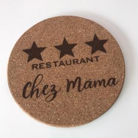 Onderzetter Restaurant Chez Mama