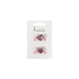 Rekje met hartje dierenprint roze