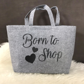 Vilten tas Born to shop