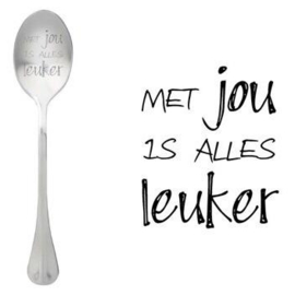 Lepel Met jou is alles leuker