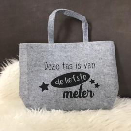 Vilten tas Deze tas is van de liefste ...
