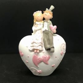 Spaarpot trouw man vrouw op hartje