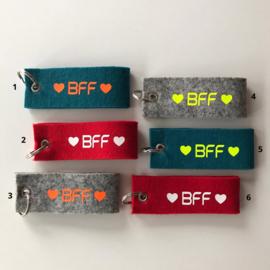Vilten sleutelhanger BFF