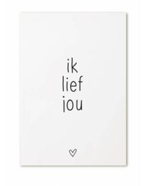 Kaart Ik lief jou