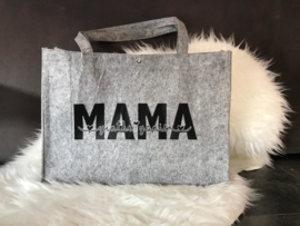 Vilten tas Mama + naam