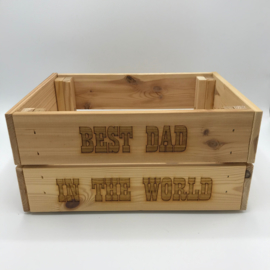 Houten krat Best dad in the world
