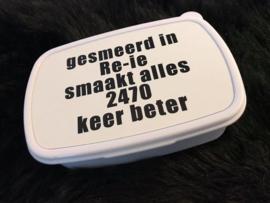 Brooddoos Gesmeerd in Re-ie