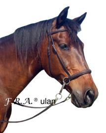 F.R.A Ulan kaakgekruist bitloos hoofdstel zwart