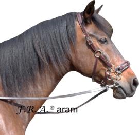 F.R.A Aram hackamore hoofdstel mocca