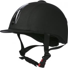 CHOPLIN Premium grainé verstelbare cap zwart