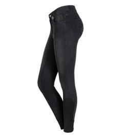 ELT Doro jeans rijbroek met siliconen zitvlak zwart