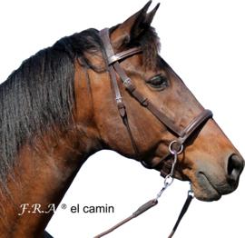 F.R.A El Camin kaakgekruist hoofdstel zwart