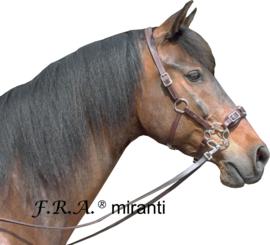 F.R.A Miranti hackamore hoofdstel mocca