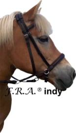 F.R.A Indy kaakgekruist bitloos hoofdstel zwart