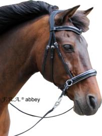 F.R.A Abbey kaakgekruist hoofstel zwart