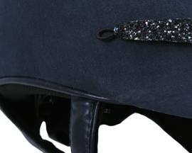 QHP cap Glitz zwart