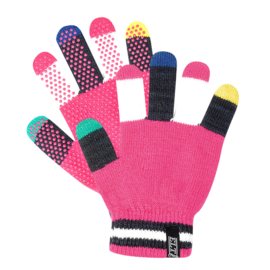 Elt paardrijhandschoen Magic Grippy multicolor fuchsia