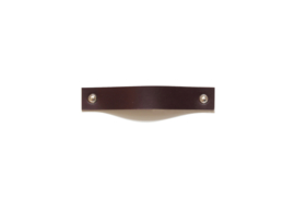 Leather handle plus, dark brown