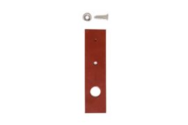 Leather tea-towel holder, cognac, 2 or 3 pieces
