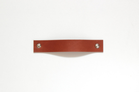 Leather handle standard, cognac
