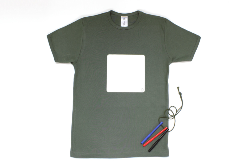 Whiteboard T-shirt, heren